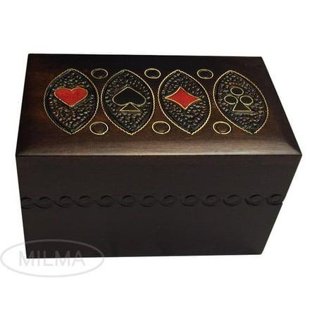 Playing Card Box (Polish Handmade Wooden Playing Card Box)