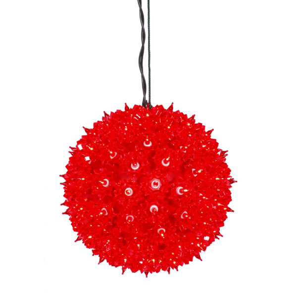 "7.5"" Red Lighted Twinkling Starlight Sphere Christmas Decoration"