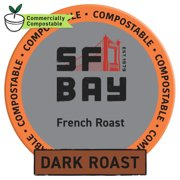 SF Bay Coffee French Roast 80 Ct Dark Roast Compostable Coffee Pods, K Cup Compatible including Keurig 2.0