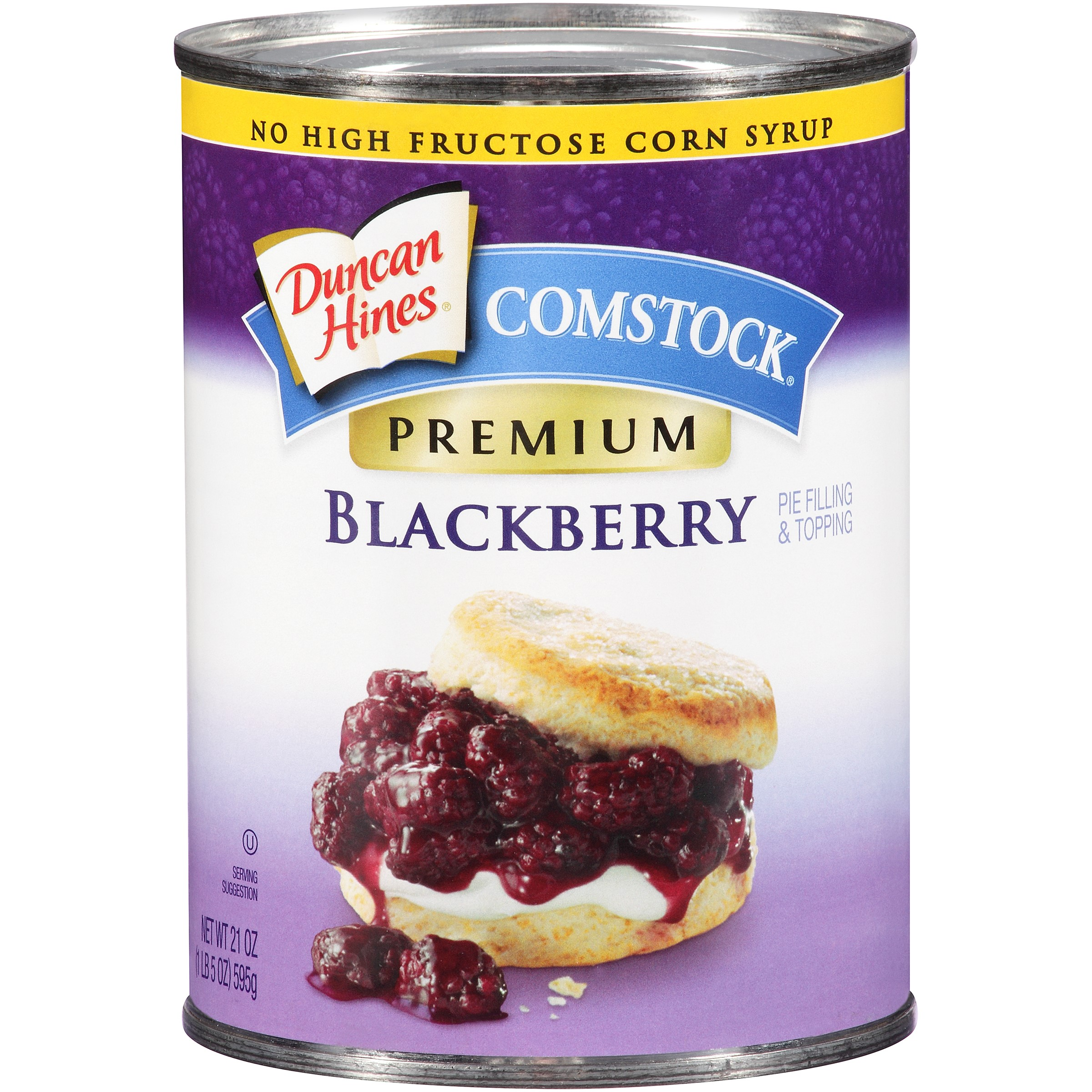 Duncan Hines Comstock Premium Blackberry Pie Filling & Topping, 21 Oz by Pinnacle Foods