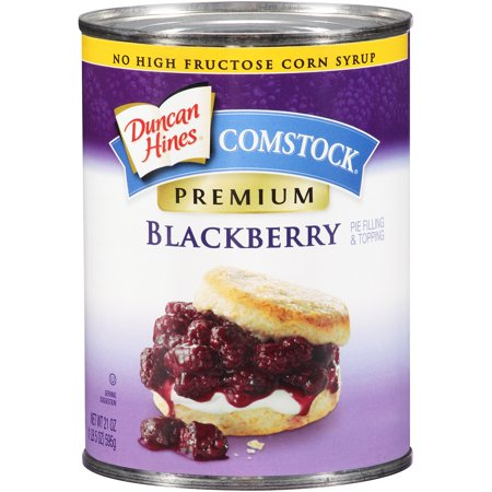 (2 Pack) Duncan Hines Comstock Premium Blackberry Pie Filling & Topping, 21 - Dessert Filling