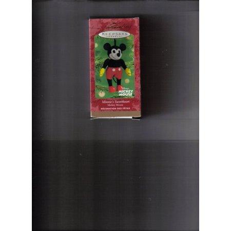 Minnie's Sweetheart Mickey Mouse 2001 Hallmark Keepsake ornament - 2001 Sweet
