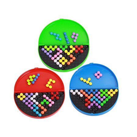 Classic Pyramid Beads Plate Game Logical Mind Balls Brain Teaser Toys for Kids & Adults Style:Random - Mind Teaser Games