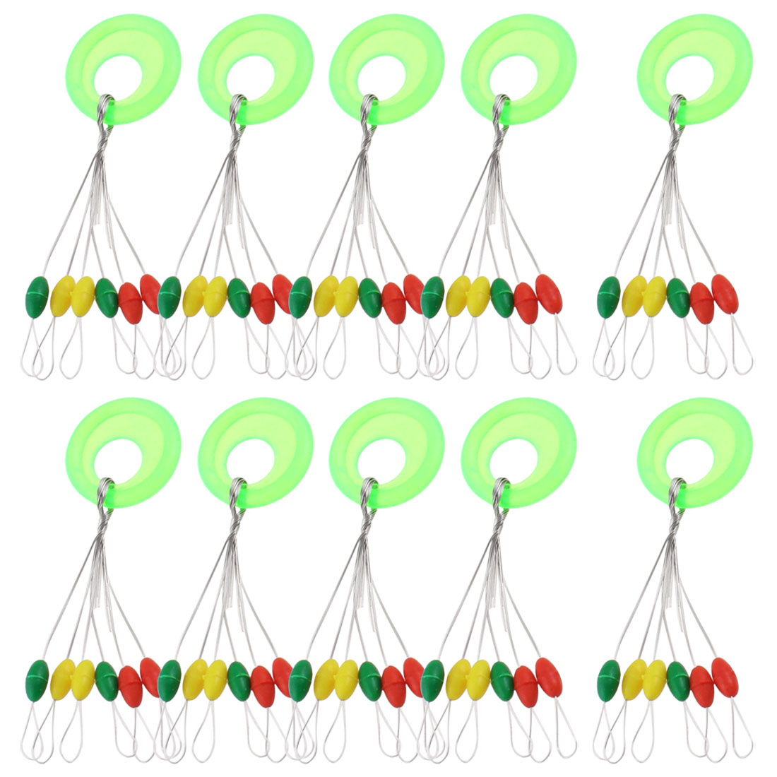 10 Pieces Fishing Tackle Oval Shaped Beads 6 in 1 Floater Bobber Stopper
