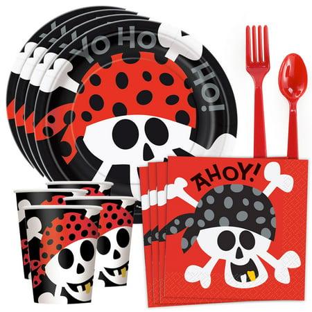 Pirate Birthday Standard Tableware Kit (Serves 8)](Pirates Birthday Supplies)