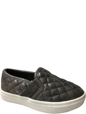 Wonder Nation Toddler Girls' Casual Quilted Slip On Sneaker