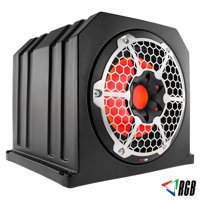 "10"" Marine Grade Subwoofer w/ Passive Sub Enclosure 4 Ohms 700 Watt + RGB Lights"