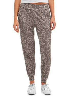 Como Blu Women's Athleisure Leopard Jogger Pant with Pockets