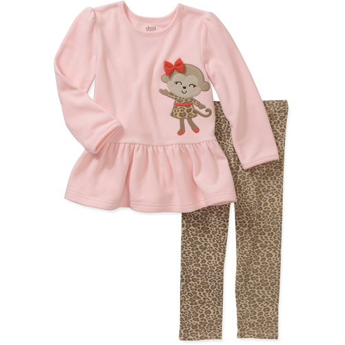 Child of Mine by Carters Baby Girls' 2 Piece Monkey Top and Legging Set
