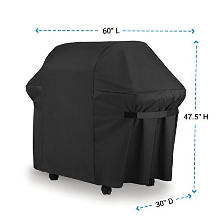 BBQ Gas Grill Cover 7107 for Weber: 44x60 in Heavy Duty Waterproof & Weather Resistant Weber Genesis & Spirit Series Outdoor Barbeque Grill Covers by LiBa