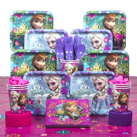 Frozen Party Deluxe Tableware Kit (Serves - Party City Frozen Theme