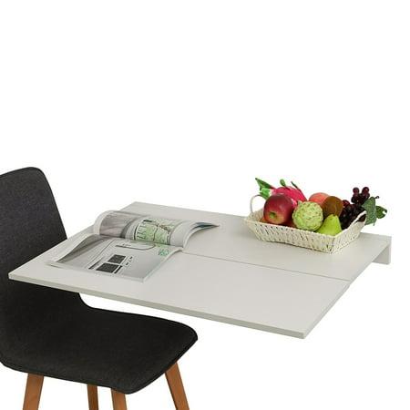 ALEKO Wall-Mounted Folding Drop Leaf Table - 24 x 32 Inches ...