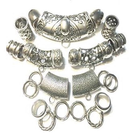 New 25pcs Scarf Jewelry Clasps Rings Slides Package For Making Scarf Jewelry S08435 - Clasps For Jewelry Making