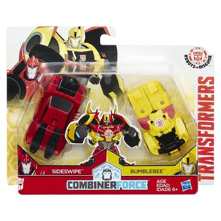 Transformers: Combiner Force Beeside, Combine Bumblebee & Sideswipe, 2 Pack Toy - Transformers Animated Sideswipe