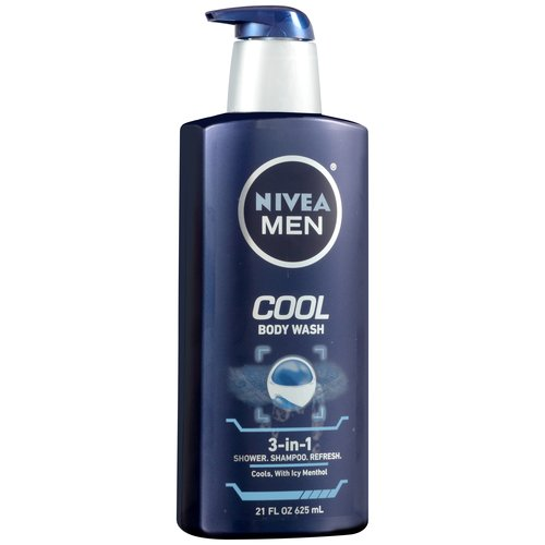 Nivea Men Cool 3-in-1 Body Wash, 21 fl oz