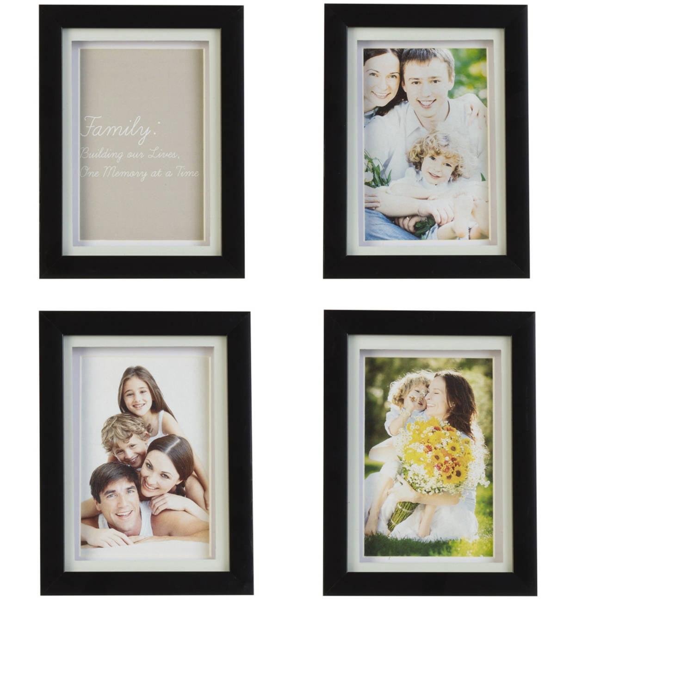 Melannco Black 6x8 Frames, Set of 4