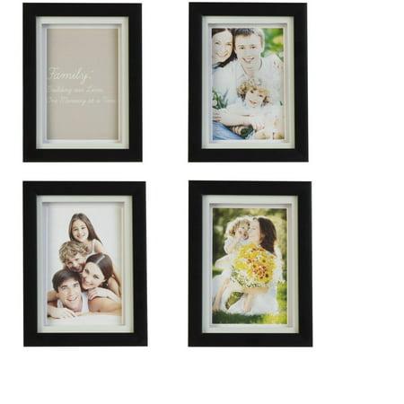 Melannco Black 6x8 Frames Set Of 4 Walmartcom
