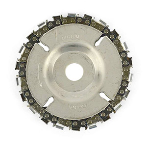 Superior Steel Ez Install 4-Inch 22 Tooth Fine Cut Grinder Disc And Chain, 5/8-Inch Arbor Ss458