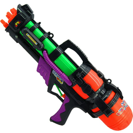 Plastic Squirt Gun Water Shooters Funny Gun Toy for Kids 1200ml - Color Random