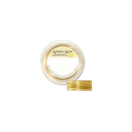 Artistic Wire Jewelry Wire Non-Tarnish Brass 18 Gauge (10 Yards)