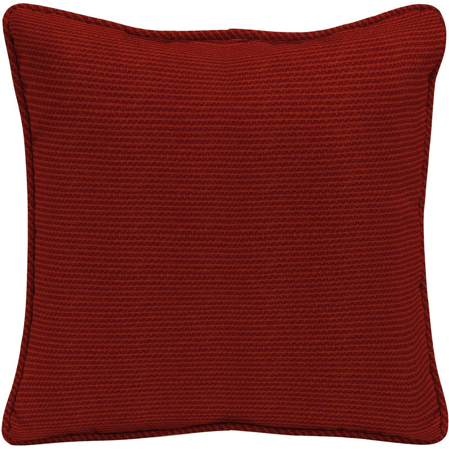 "Arden Outdoors 18"" Square Pillow With Welt, Red Rib Woven"