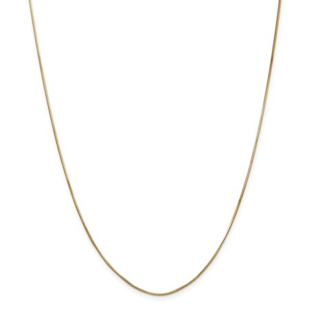(14K Yellow Gold 1.00mm Octagonal Snake Necklace Chain -16