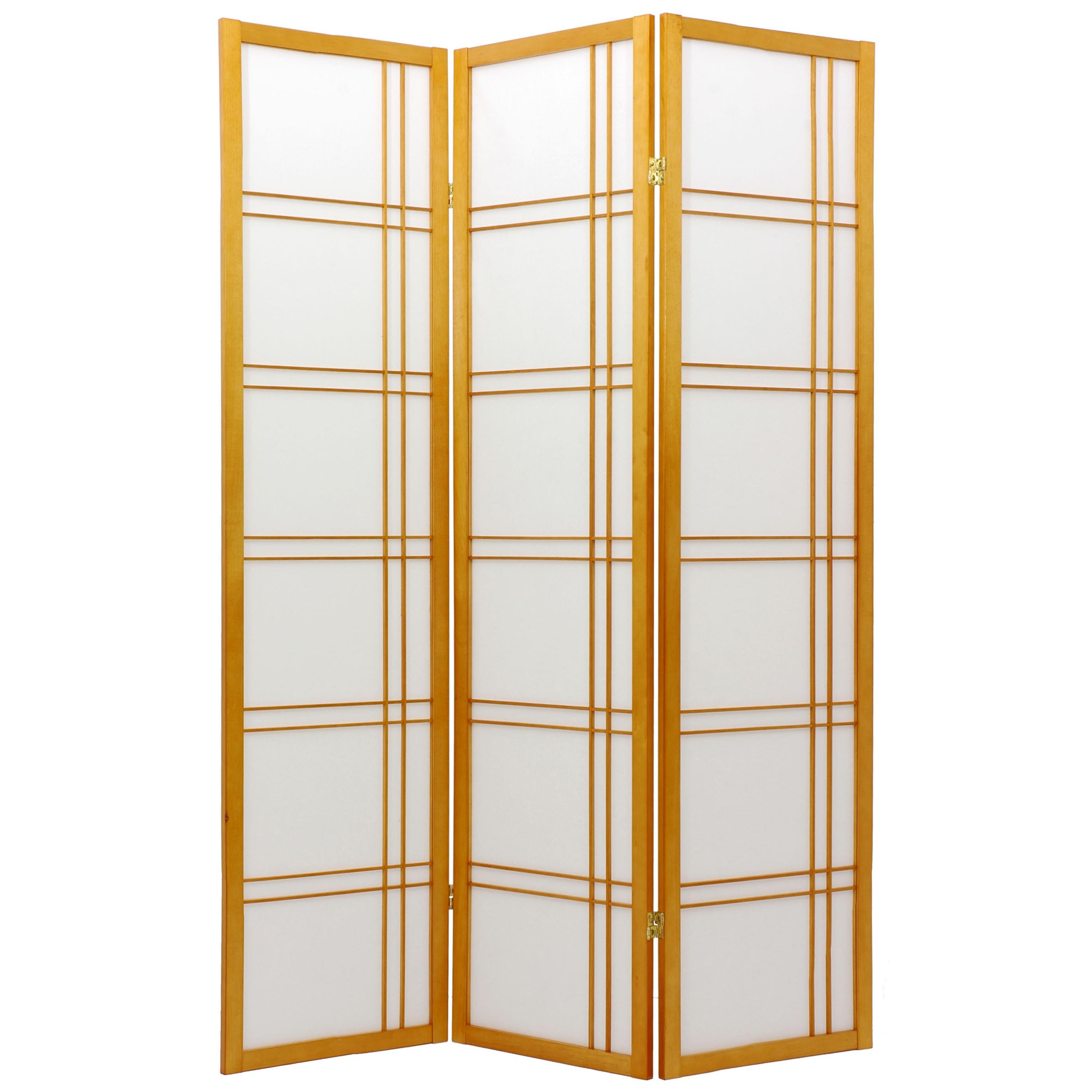 Oriental Furniture Double Cross Shoji Screen Room Divider Walmartcom