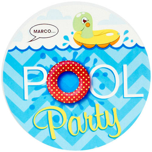 Splashin Pool Party Invitations Pk  WalmartCom