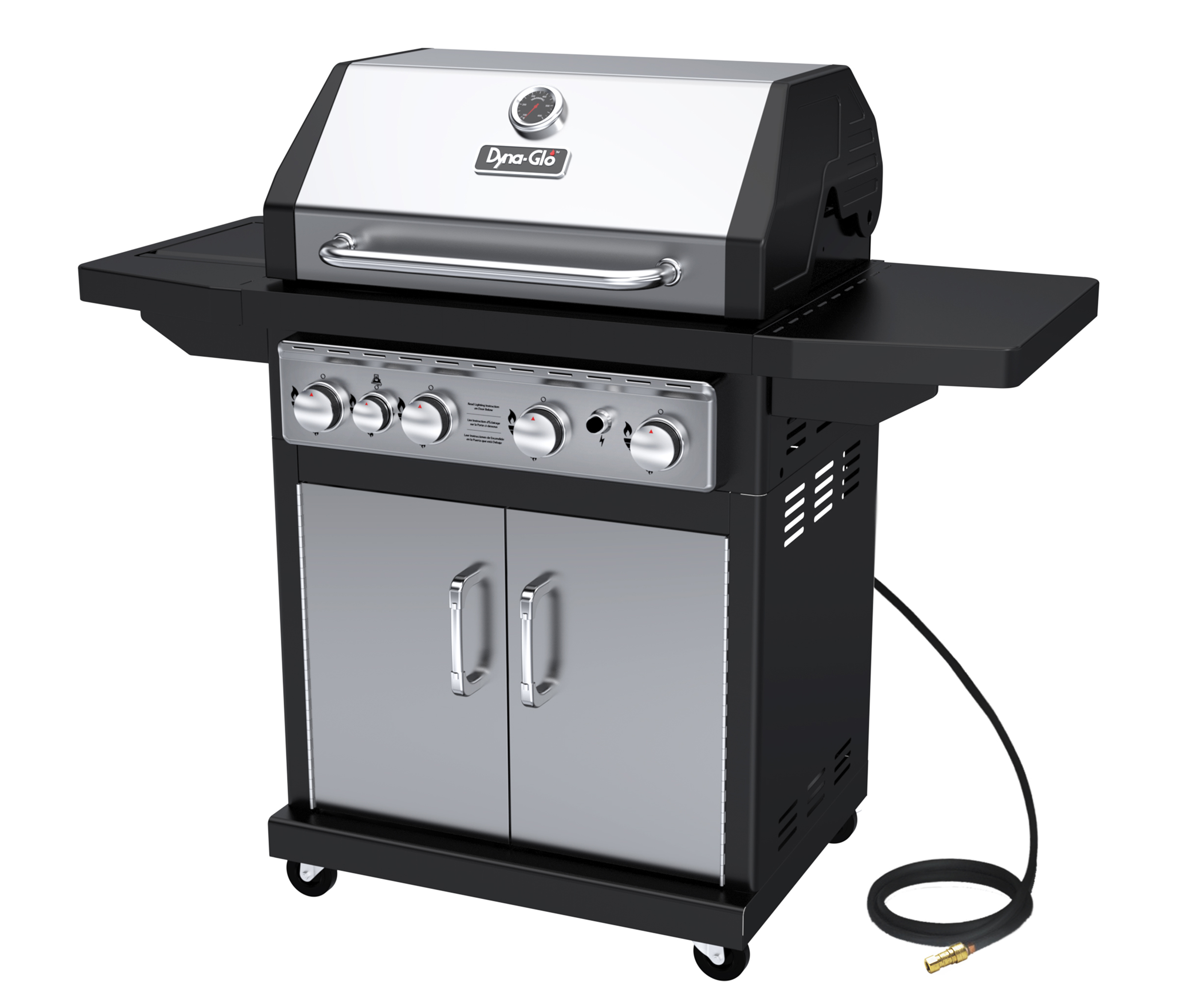 Dyna-Glo DGA480SSN-D 4 Burner Stainless Natural Gas Grill by Gas Grills