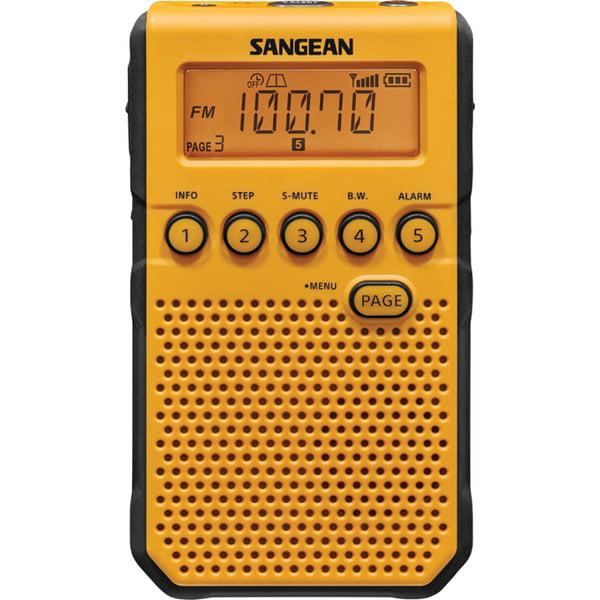Sangean(R) DT-800YL AM/FM Weather Alert Pocket Radio (Yellow)