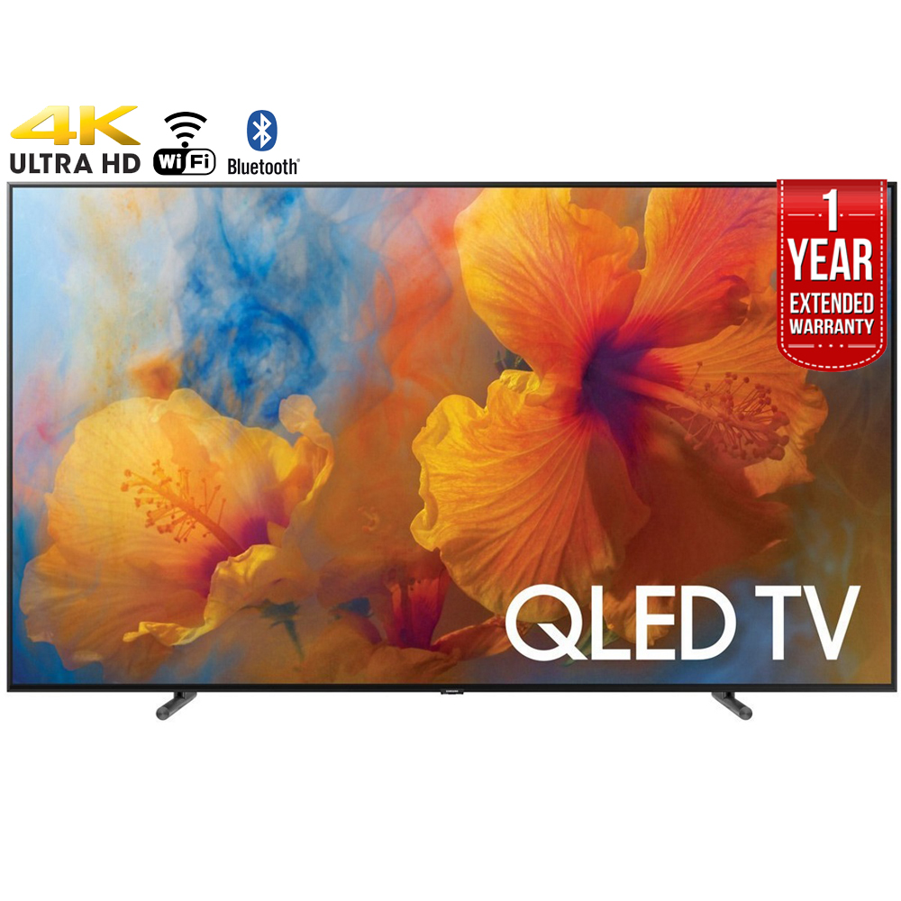 "Refurbished Samsung 75"" Class 4K (2160P) Smart QLED TV (QN75Q9) + 1 Year Extended Warranty"