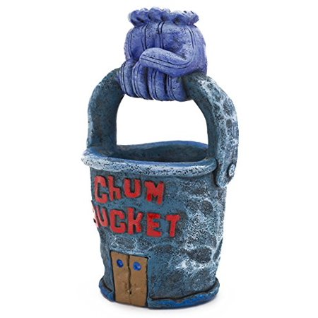 Spongebob Squarepants Chum Bucket Aquarium Ornament - Oklahoma Aquarium Halloween