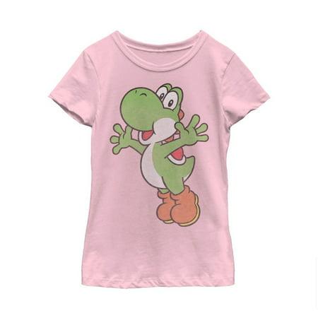 Nintendo Girls' Mario Sidekick Yoshi T-Shirt - Is Yoshi A Girl Or A Boy