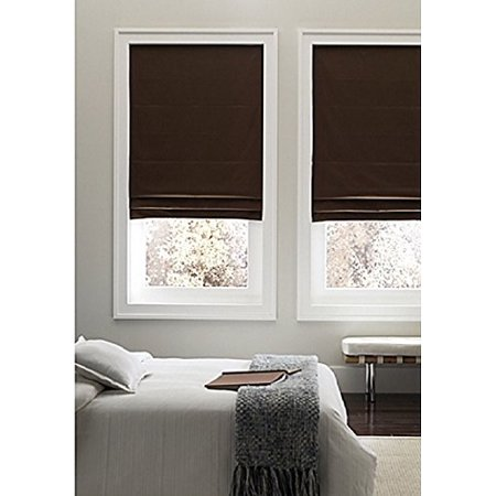 Real Simple Cordless Fabric Roman Shade Chocolate 32in W X 72in