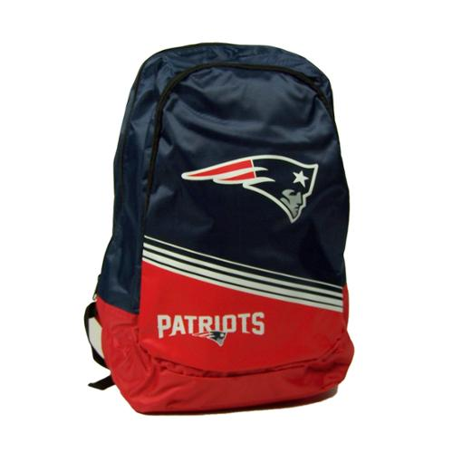 New England Patriots Official NFL 20 inch x 12 inch x 4 inch Stripe Core Backpack by Forever ...