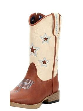 Double Barrel Western Boots Boys Lone Star Cowboy Zip Brown 4411402