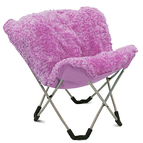 Mac At Home Junior Padded Butterfly Chair Pink Poodle
