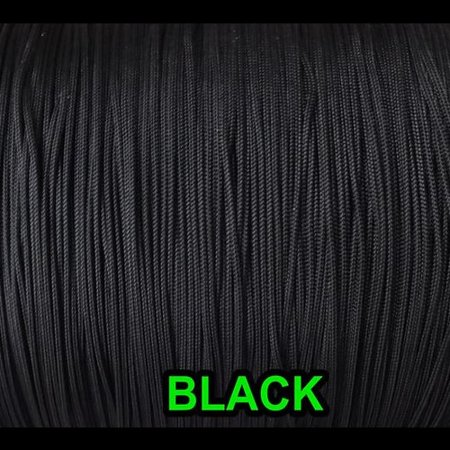 Black Braided Bolo Leather Cord - 10 YARDS: Black 1.8 MM Professional Braided Nylon Lift Cord For Blinds & Shades