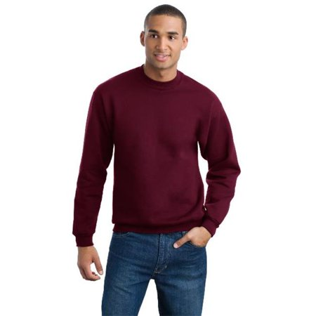 Jerzees 4662M Mens Super Sweats Crewneck Sweatshirt  Maroon   Small