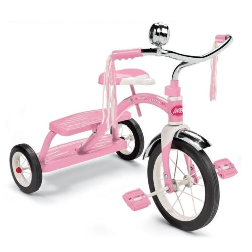 Radio Flyer 33P Classic Pink Girls 12' Dual Deck Tricycle by