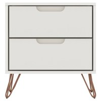 Manhattan Comfort Rockefeller 2 Drawer Nightstand