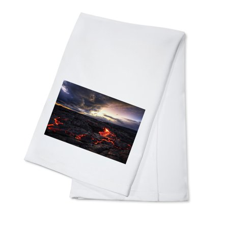 Lava Field - Lantern Press Photography (100% Cotton Kitchen (Field Kitchen)