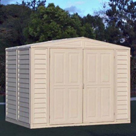 Duramax 8 x 8 ft. Duramate Storage Shed Duramax Vinyl Outdoor Shed