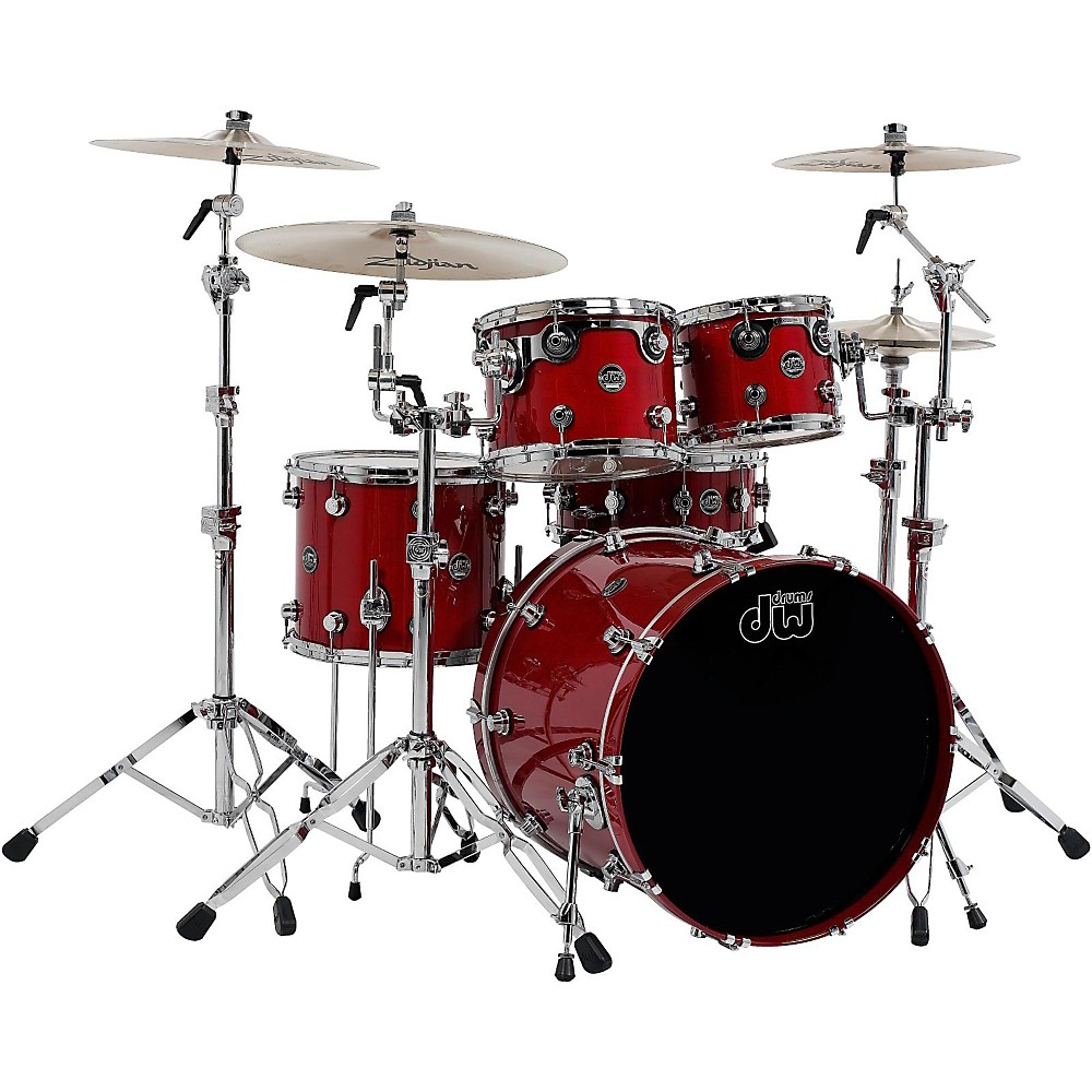 DW Performance Series 5-Piece Shell Pack Candy Apple Lacquer with Chrome Hardware by DW