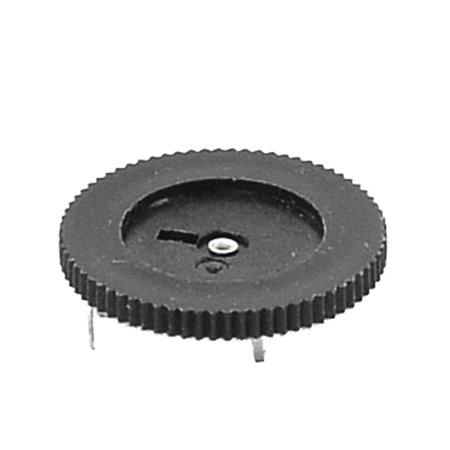 2K Ohm 3 Terminals 20mm Dia Volume Single Linear Radio Dial Wheel Potentiometer - image 1 of 2