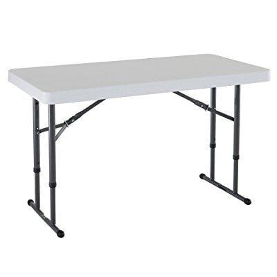 Lifetime 80160 commercial height adjustable folding utili...