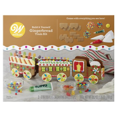 Wilton Build-it-Yourself Gingerbread Train Decorating (Filled Gingerbread)