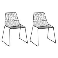Kids Geometric Wire Activity Chairs 2pk White
