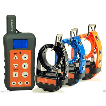 EASYPET 1200M Remote Dog Training Collar System/Rechargeable Waterproof Shock Collar for Dogs