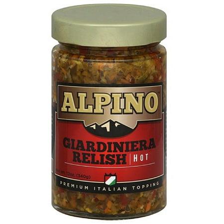 Image of Alpino Hot Giardiniera Relish, 12 oz, (Pack of 6)